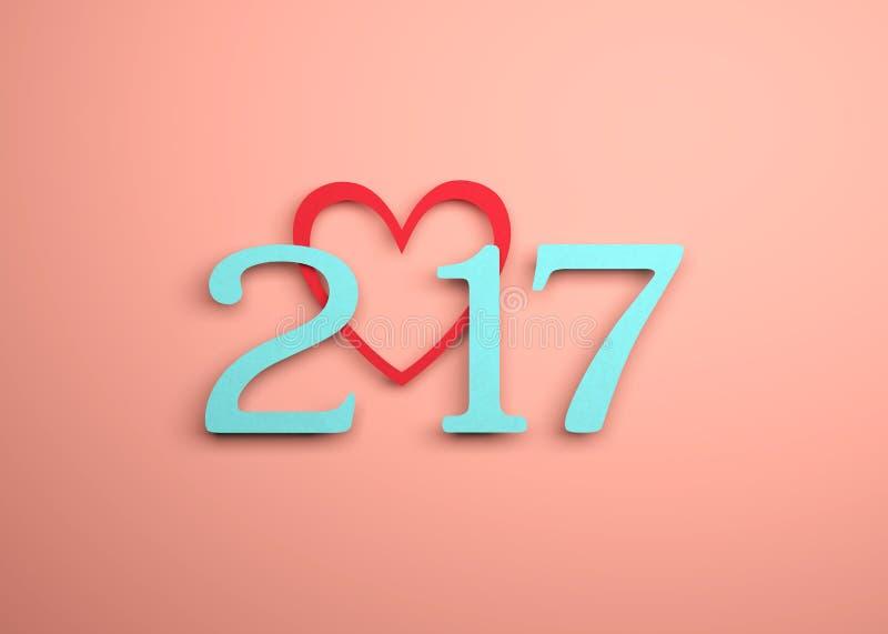 Año Nuevo 2017 ilustración del vector
