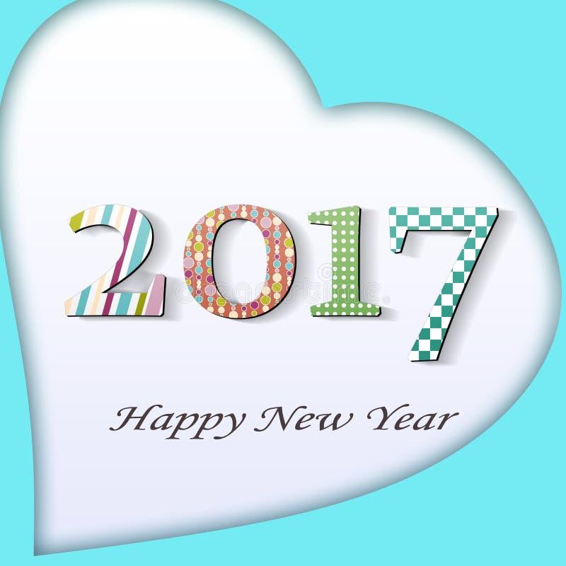 Año Nuevo 2017 stock de ilustración