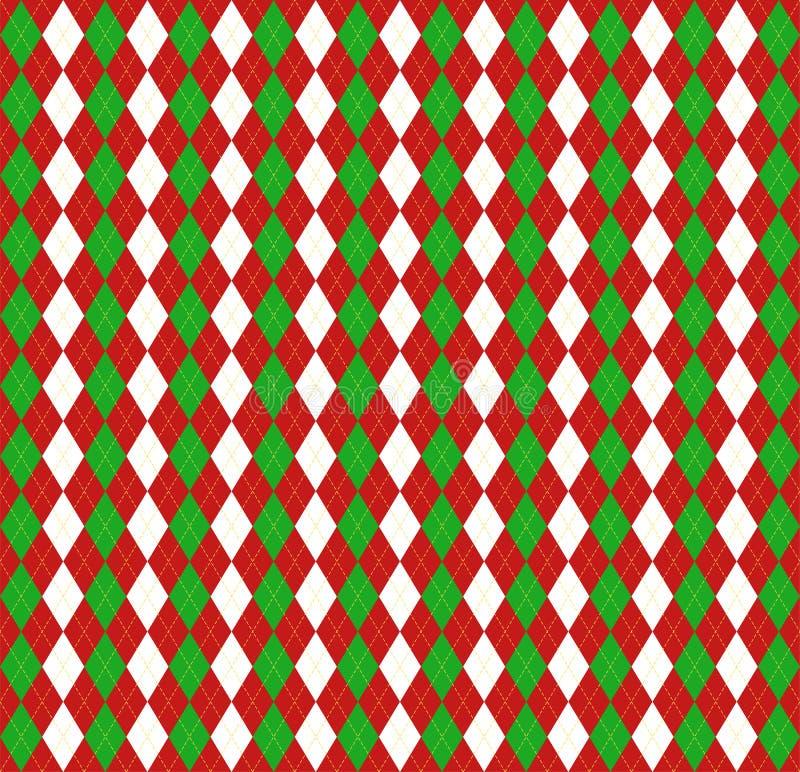 Año Nuevo Argyle de la Navidad Jaula del escocés del modelo ilustración del vector