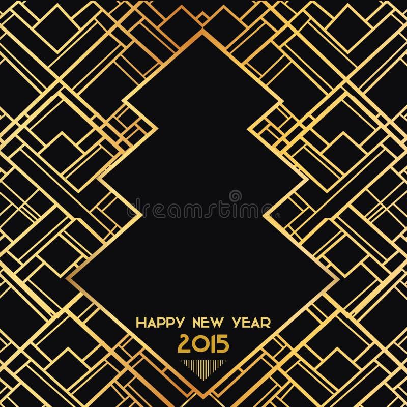 Año Nuevo Art Deco Card 2015 libre illustration
