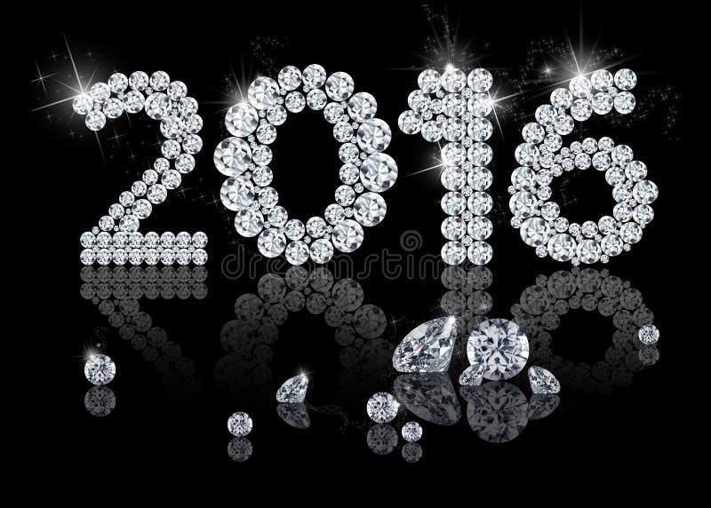 Año Nuevo brillante 2016 libre illustration