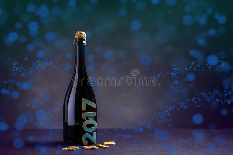 Año Nuevo Champán imagen de archivo libre de regalías