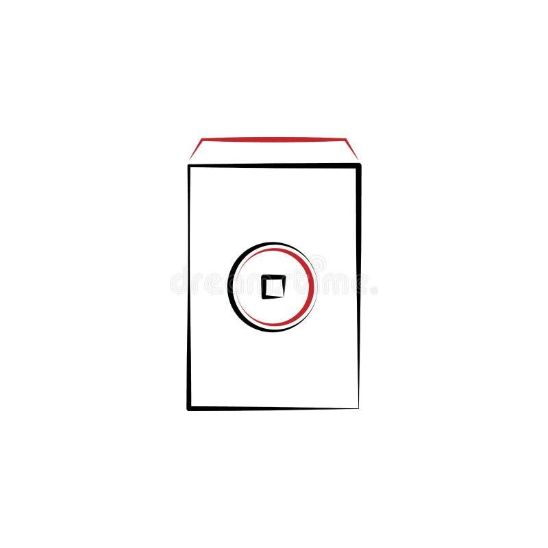 Año Nuevo chino, sobre, icono de las monedas Puede ser utilizado para la web, logotipo, app móvil, UI, UX libre illustration