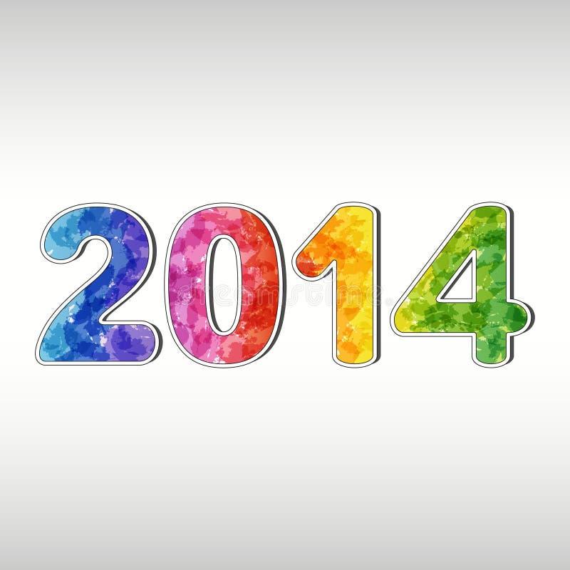 Año Nuevo colorido 2014 stock de ilustración