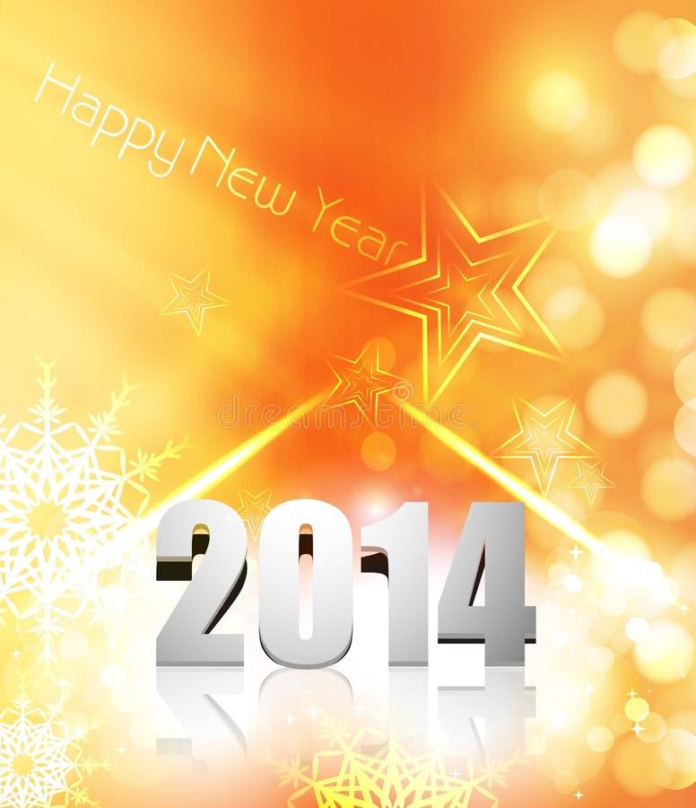 Año Nuevo 2014 colorido para el fondo de la Feliz Navidad  libre illustration