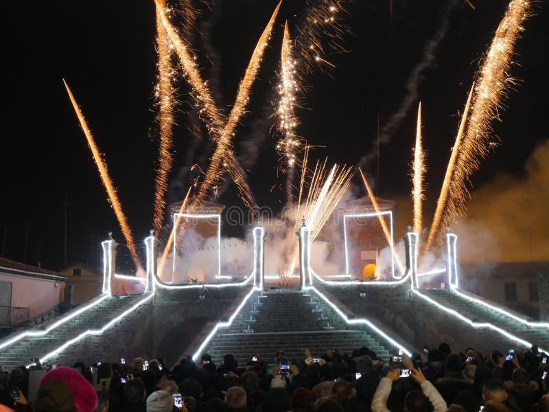Año Nuevo Comacchio 2018 fotos de archivo