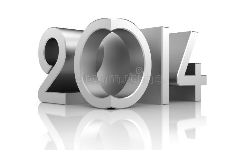 Año Nuevo con la reflexión stock de ilustración