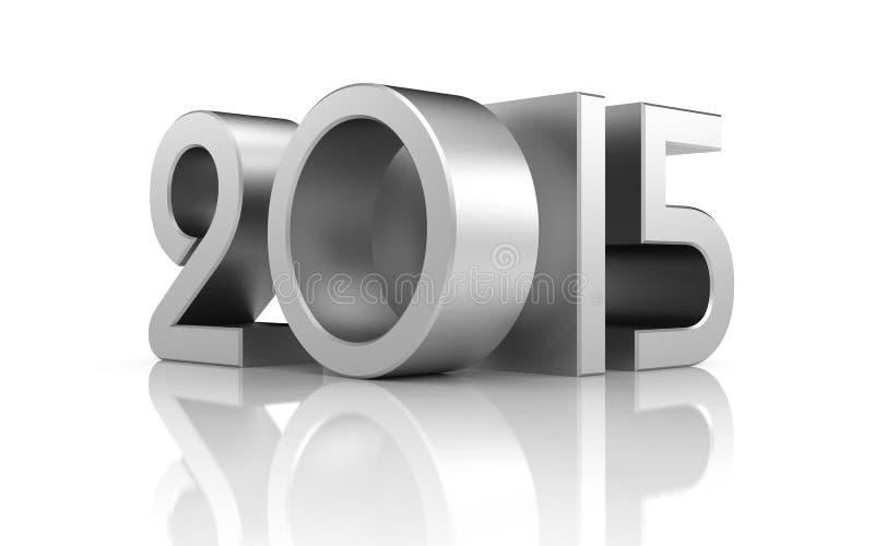 Año Nuevo con la reflexión ilustración del vector