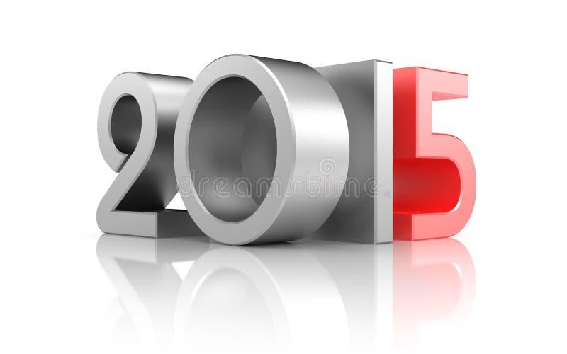 Año Nuevo con la reflexión libre illustration