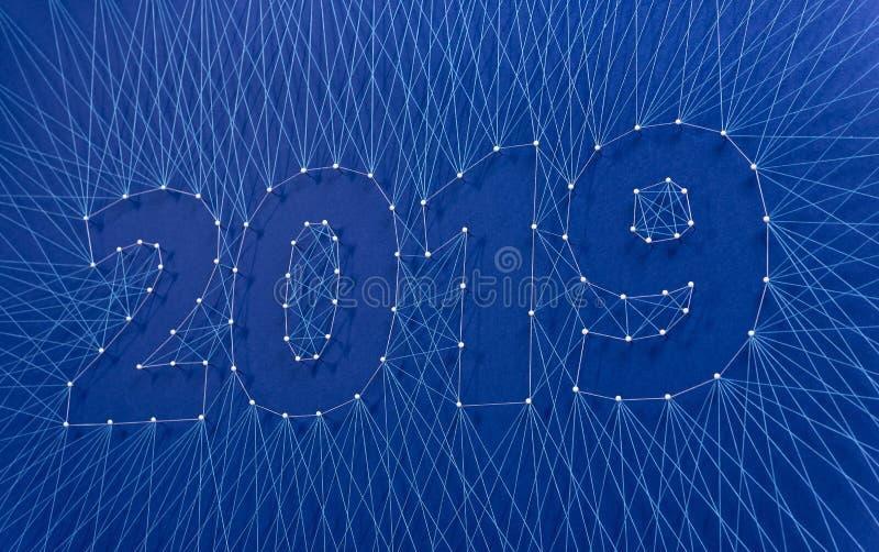 Año Nuevo 2019 - construyendo el futuro junto, en equipo fotos de archivo libres de regalías