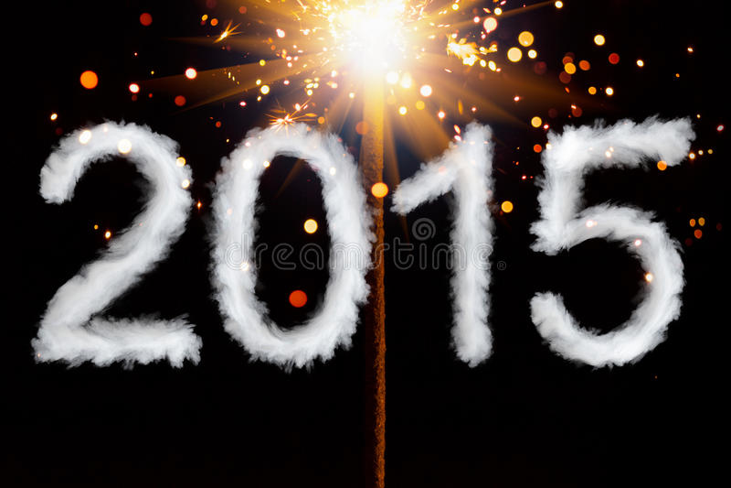 Año Nuevo 2015, dígitos del estilo del humo fotos de archivo libres de regalías