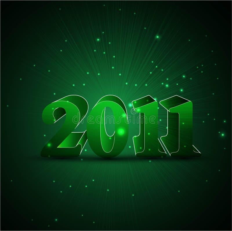 Año Nuevo de la espinilla 2011 abstractos libre illustration
