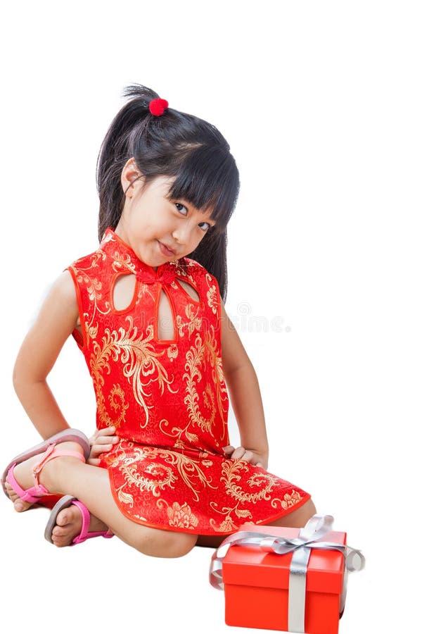 Año Nuevo de la niña china feliz fotografía de archivo libre de regalías