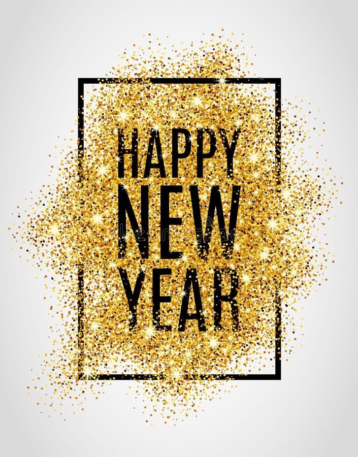 Año Nuevo del brillo del oro libre illustration