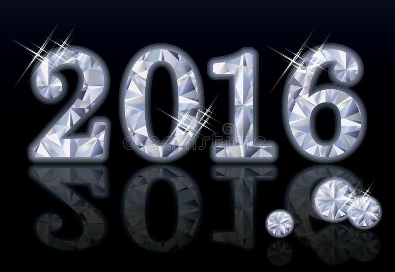 Año Nuevo del diamante 2016 stock de ilustración