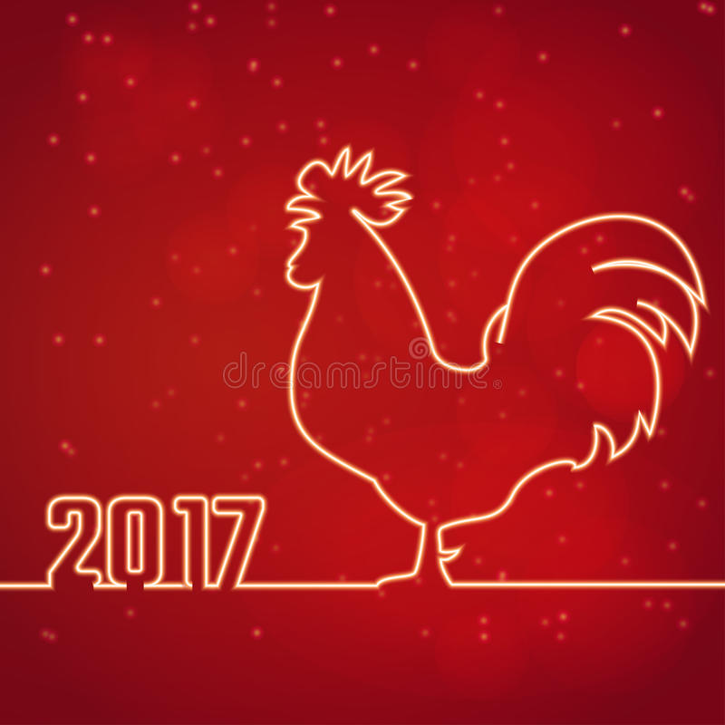 Año Nuevo del gallo stock de ilustración