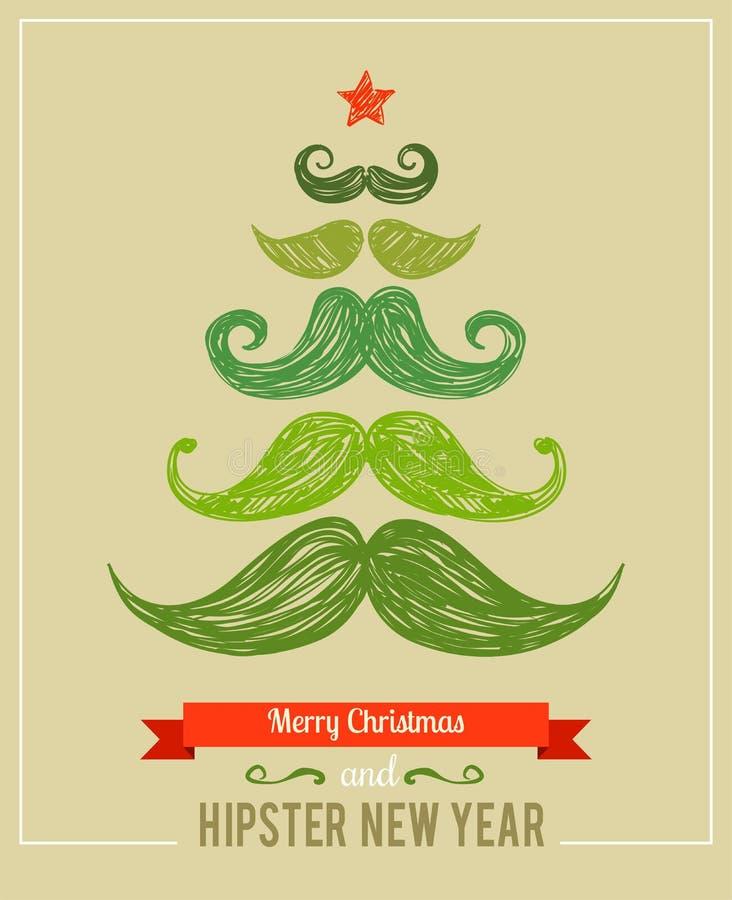 Año Nuevo del inconformista y Feliz Navidad ilustración del vector