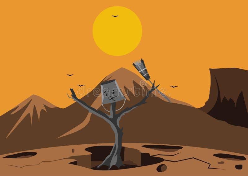 Año Nuevo, después de la sequía ilustración del vector