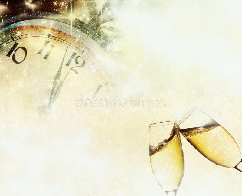 Año Nuevo en la medianoche stock de ilustración
