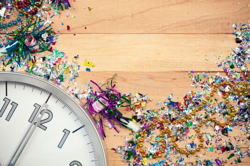 Año Nuevo: Fondo de la celebración del partido del Año Nuevo imágenes de archivo libres de regalías