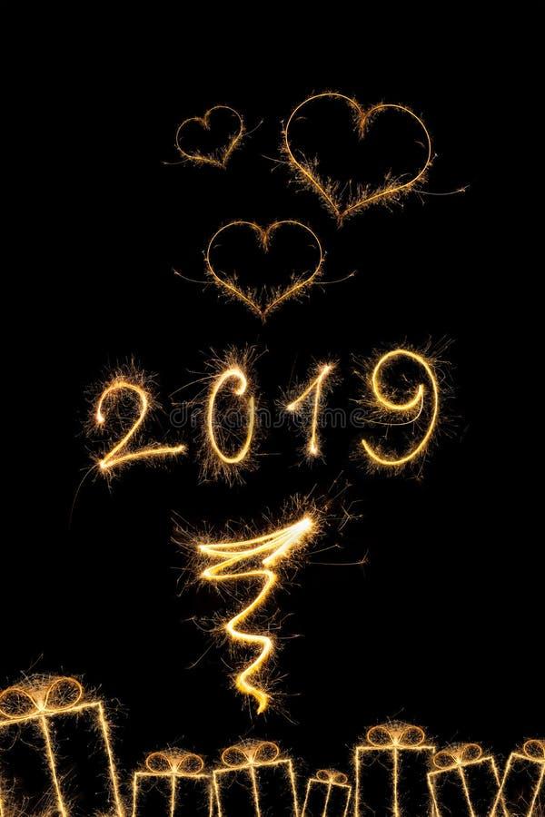 Año Nuevo mágico 2014 ilustración del vector