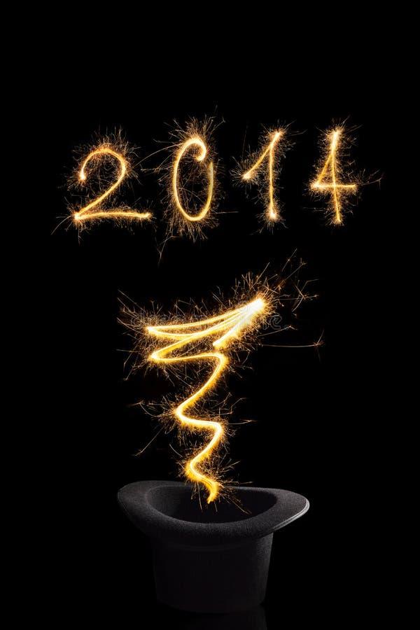 Año Nuevo mágico 2014. imagen de archivo libre de regalías
