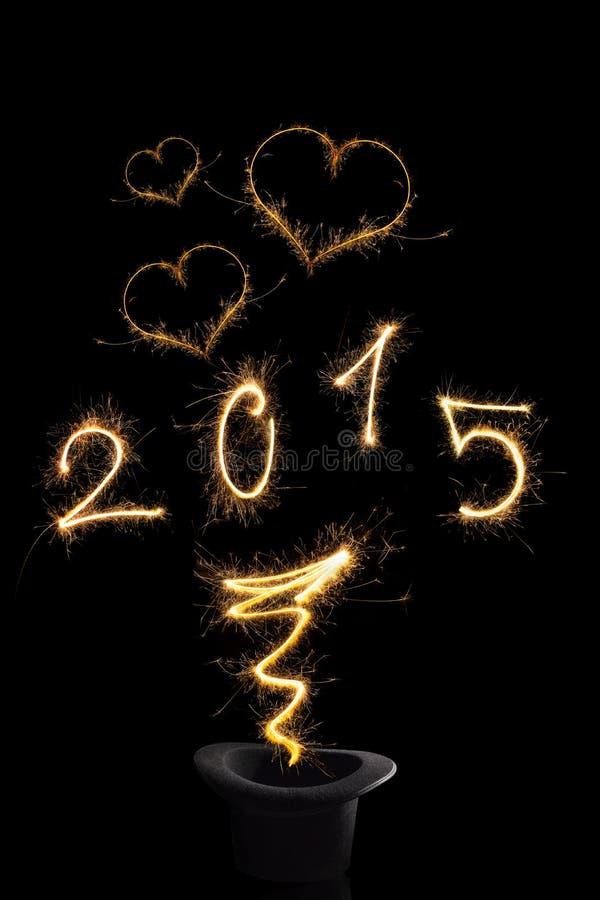 Año Nuevo mágico 2015 imagen de archivo libre de regalías