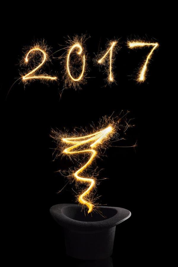 Año Nuevo mágico 2017 fotografía de archivo libre de regalías