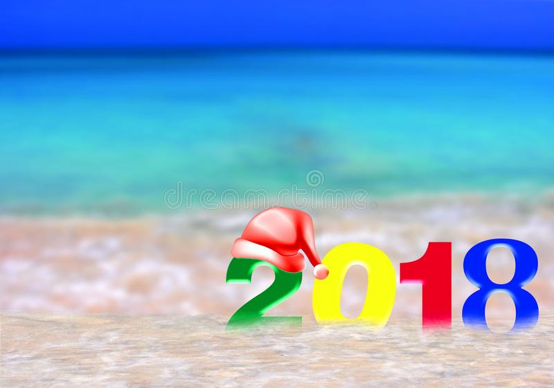 Año Nuevo multicolor 2018 foto de archivo libre de regalías