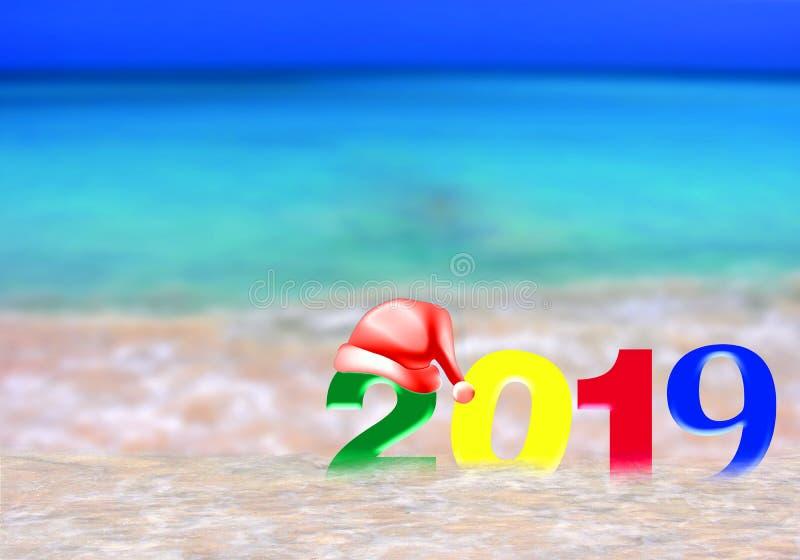 Año Nuevo multicolor 2019 imagen de archivo