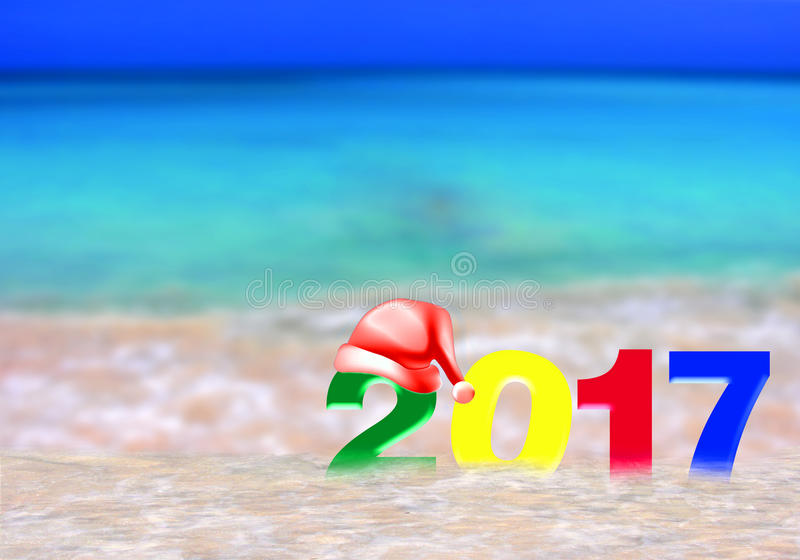 Año Nuevo multicolor 2017 foto de archivo libre de regalías
