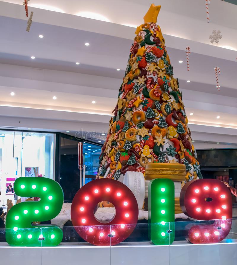 Año Nuevo 2019 y la Navidad fotos de archivo