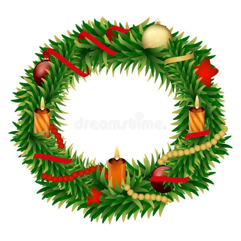 Año Nuevo y la Navidad del día de fiesta de la celebración ilustración del vector