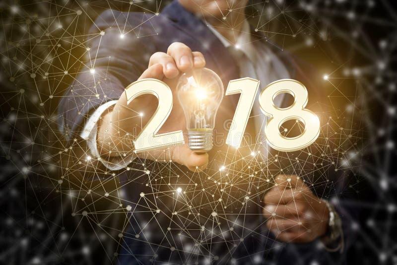 Año Nuevo y una nueva idea del negocio imagen de archivo