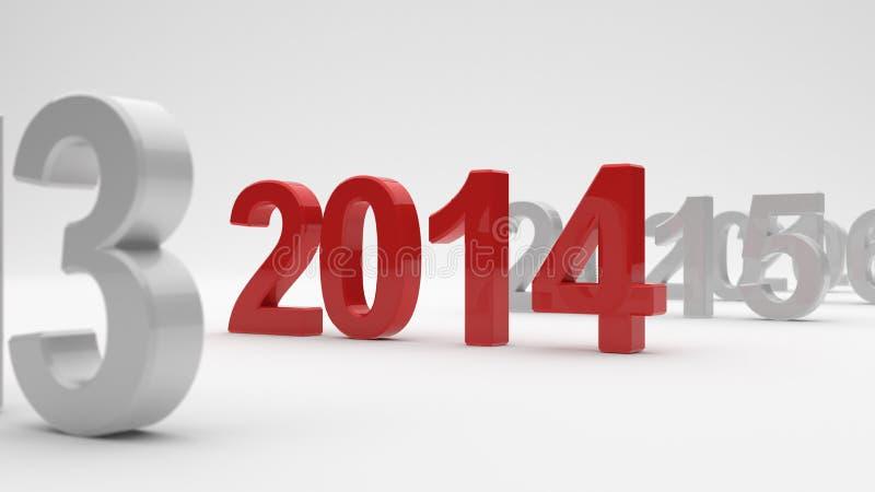 2014 años stock de ilustración
