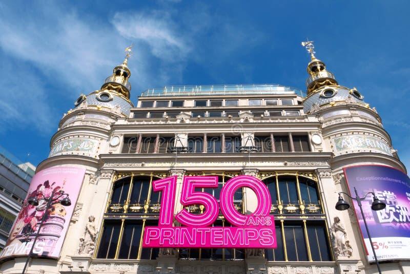 150 años de Au Printemps foto de archivo