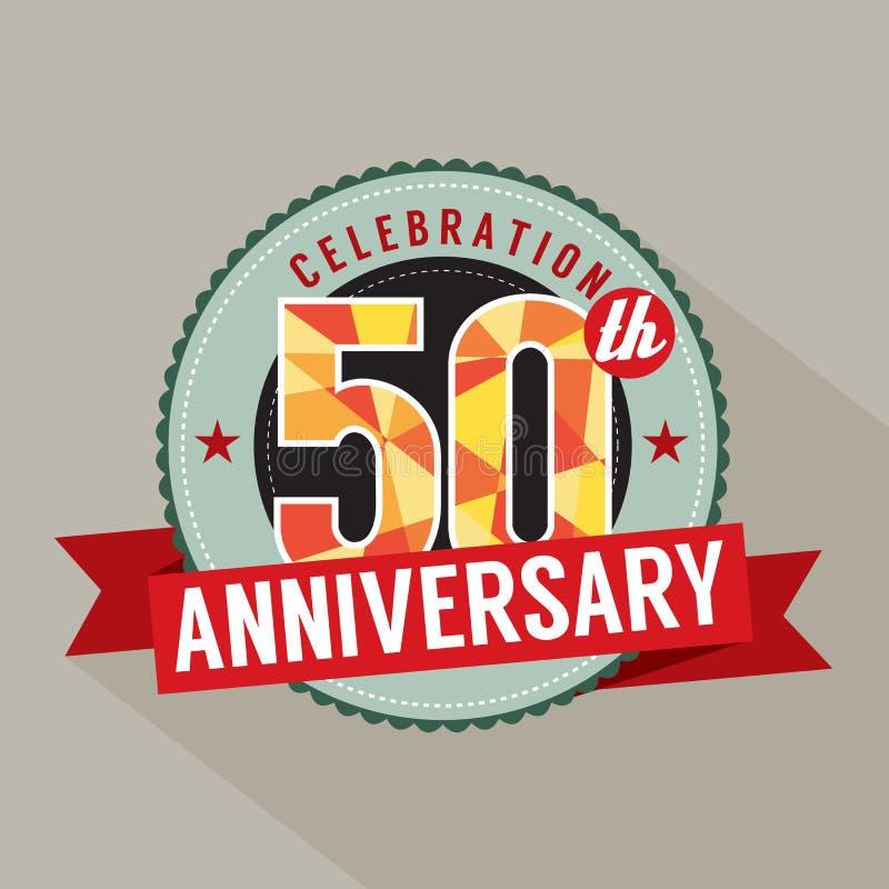 50 años del aniversario de diseño de la celebración ilustración del vector