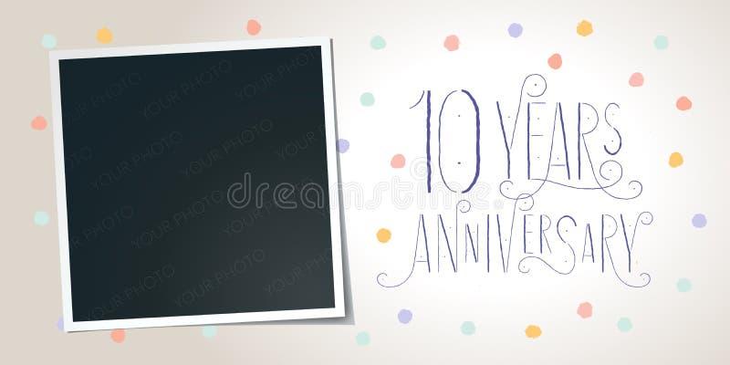 10 años del aniversario de icono del vector, logotipo elemento del diseño de la plantilla ilustración del vector