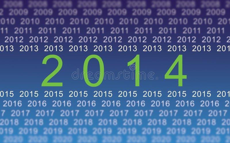 2014 años digitales stock de ilustración