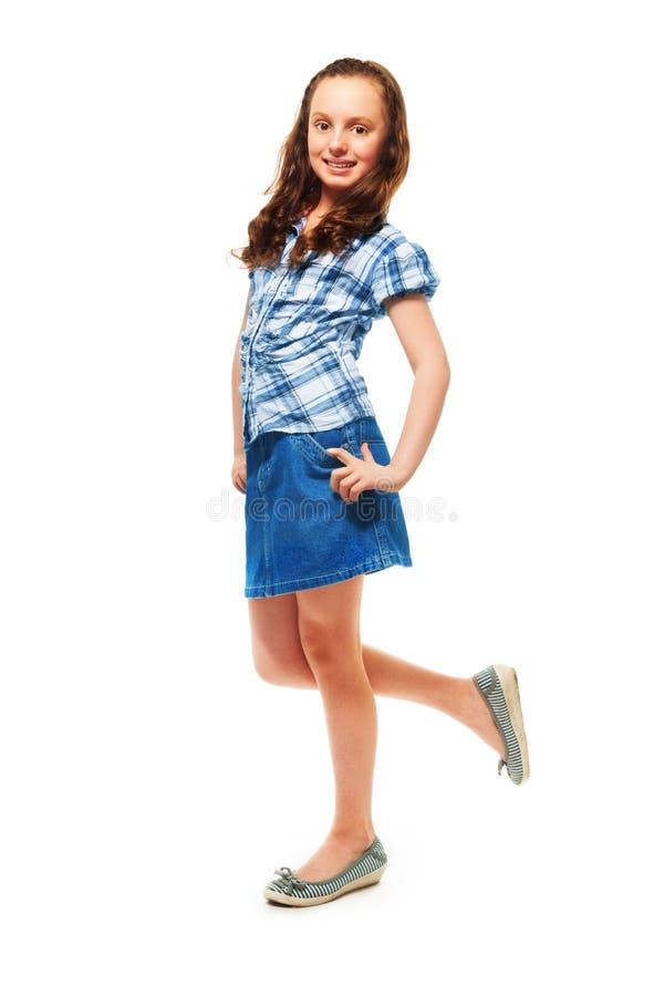 12 años felices de la muchacha imagenes de archivo