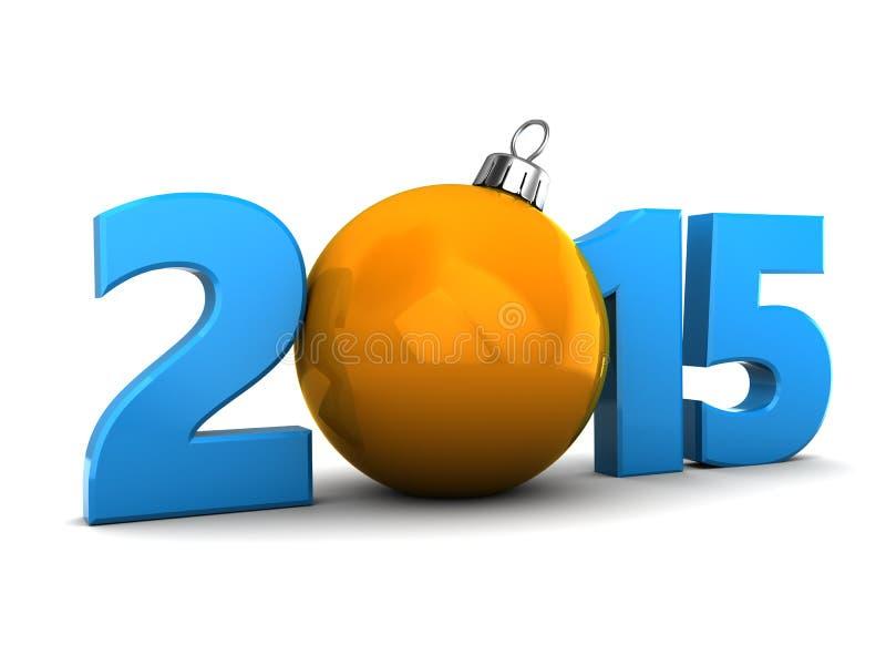 2015 Años Nuevos ilustración del vector