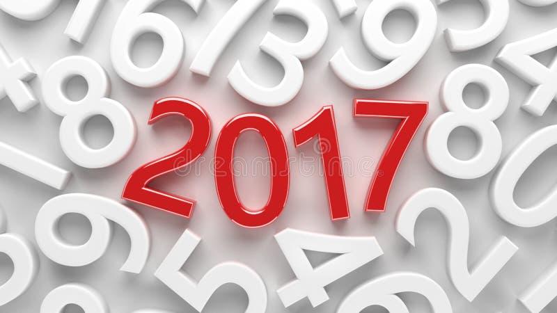 2017 Años Nuevos ilustración del vector