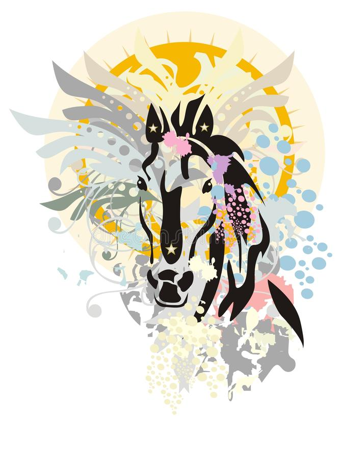 Años Nuevos de caballo libre illustration