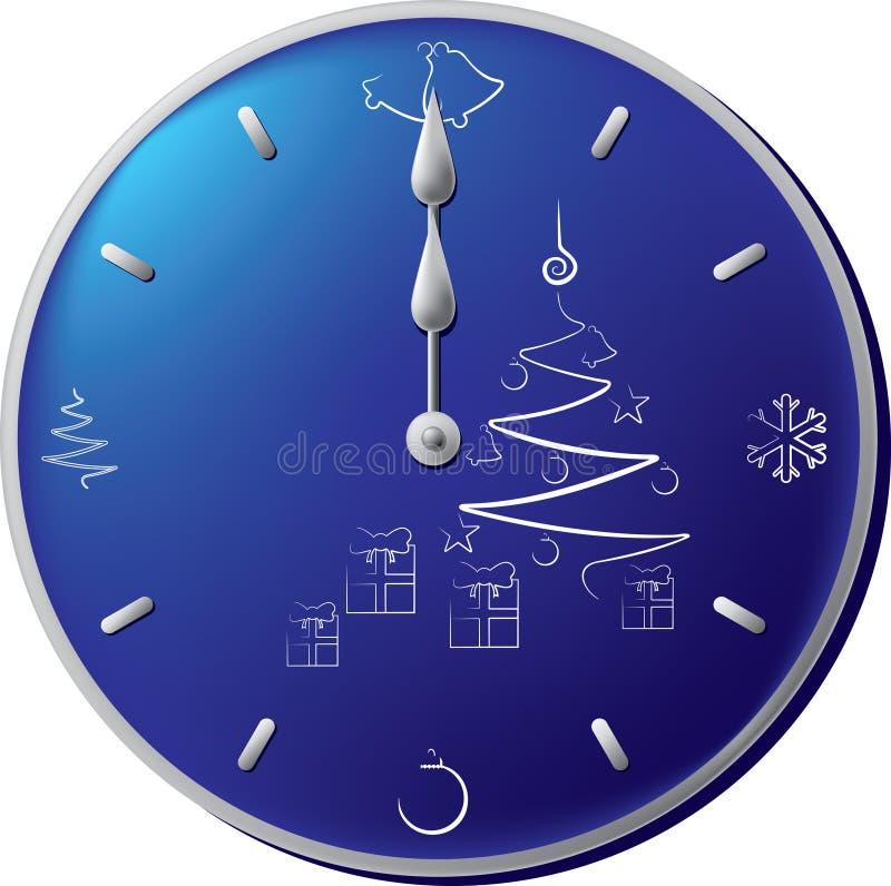 Años Nuevos de reloj stock de ilustración