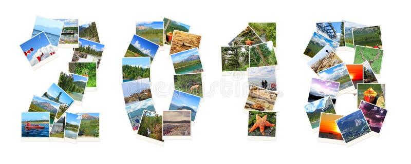 2018 Años Nuevos Dos mil dieciocho Los números se hacen de los paisajes de Canadá imagen de archivo libre de regalías