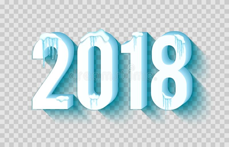 2018 Años Nuevos feliz stock de ilustración