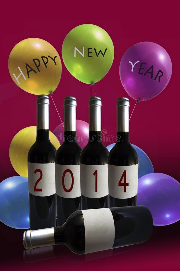 2014 Años Nuevos feliz ilustración del vector