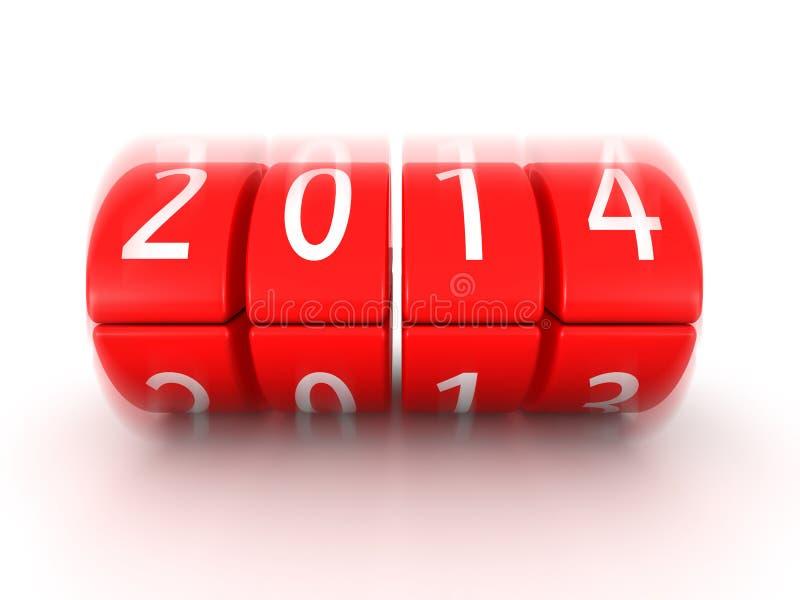 2014 años que vienen calendario pronto rodante libre illustration