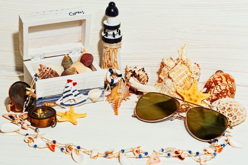 Aún concepto náutico de la vida y de las vacaciones fotos de archivo