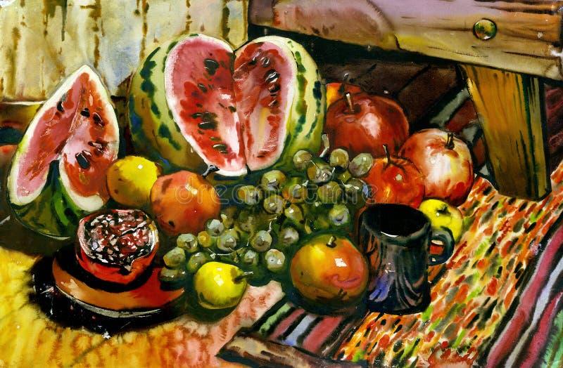 Aún-vida de la fruta ilustración del vector